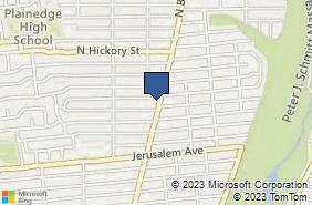 Bing Map of 847 N Broadway Ste 101 Massapequa, NY 11758