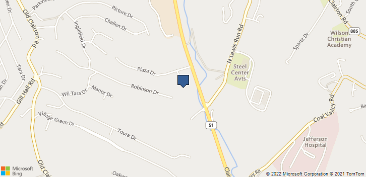 850 Clairton Blvd-3300 Pittsburgh, PA, 15236 Map