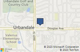 Bing Map of 8515 Douglas Ave Ste 17 Urbandale, IA 50322