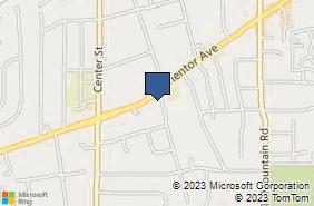 Bing Map of 8518 Mentor Ave Ste E Mentor, OH 44060