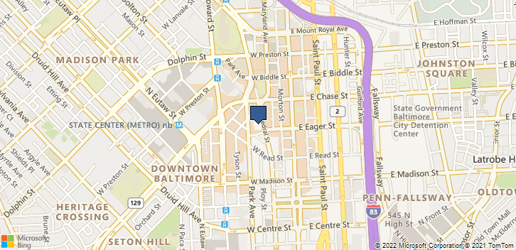 861 Park Ave Baltimore, MD, 21201 Map
