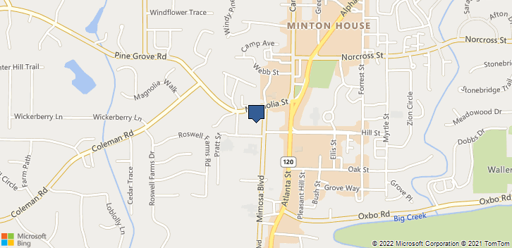 864 Mimosa Boulevard Roswell, GA, 30075 Map
