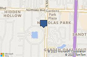 Bing Map of 8645 N Military Trl Ste 513 Palm Beach Gardens, FL 33410