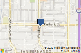 Bing Map of 8660 Woodley Ave Ste 106 North Hills, CA 91343