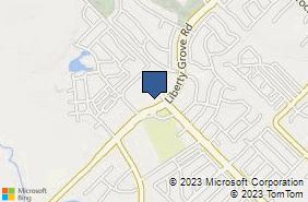 Bing Map of 8701 Liberty Grove Rd Ste 200 Rowlett, TX 75089