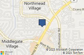 Bing Map of 8711 Highway 6 N Ste 110 Houston, TX 77095
