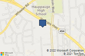 Bing Map of 878 Veterans Hwy Ste 400 Hauppauge, NY 11788