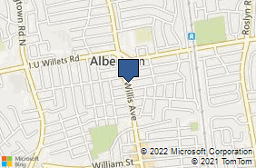 Bing Map of 882 Willis Ave Albertson, NY 11507
