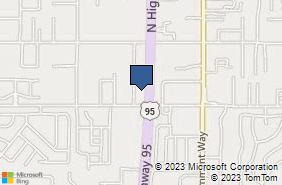 Bing Map of 8880 N Hess St # 3 Hayden Lake, ID 83835