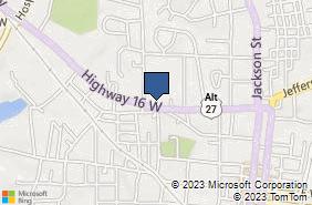 Bing Map of 89 Temple Ave Newnan, GA 30263
