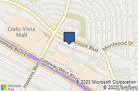 Bing Map of 8900 Viscount Blvd Ste Ar El Paso, TX 79925