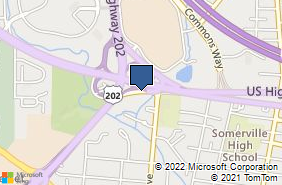 Bing Map of 892 Rte 22 Somerville, NJ 08876