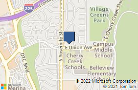 Bing Map of 8933 E Union Ave Ste 204 Greenwood Village, CO 80111