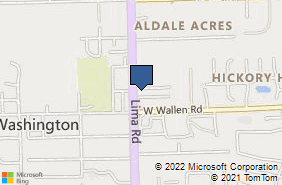 Bing Map of 8938 Lima Rd Ste R Fort Wayne, IN 46818