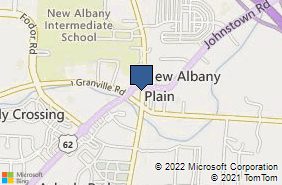 Bing Map of 9 S High St New Albany, OH 43054