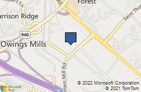 Bing Map of 90 Painters Mill Rd Ste 222 Owings Mills, MD 21117