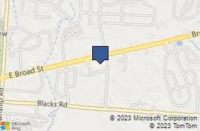 Bing Map of 9000 Broad St Sw Pataskala, OH 43062