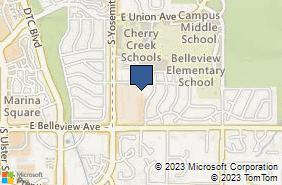 Bing Map of 9000 E Chenango Ave Ste 100 Greenwood Village, CO 80111