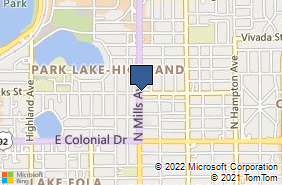 Bing Map of 901 N Mills Ave Orlando, FL 32803