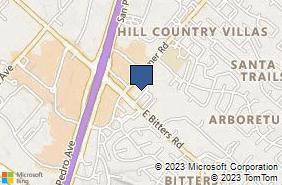 Bing Map of 903 Bitters Rd Ste 307 San Antonio, TX 78216