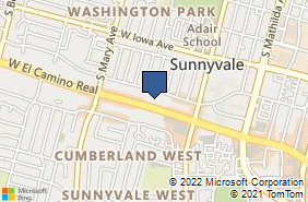 Bing Map of 905 W El Camino Real Sunnyvale, CA 94087