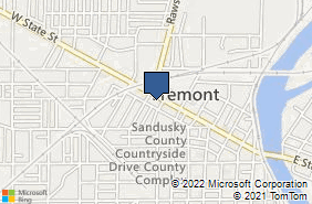 Bing Map of 905 W State St Fremont, OH 43420