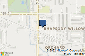 Bing Map of 9055 Harmony Dr Midwest City, OK 73130