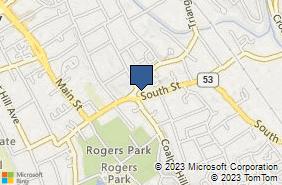 Bing Map of 91 South St Danbury, CT 06810