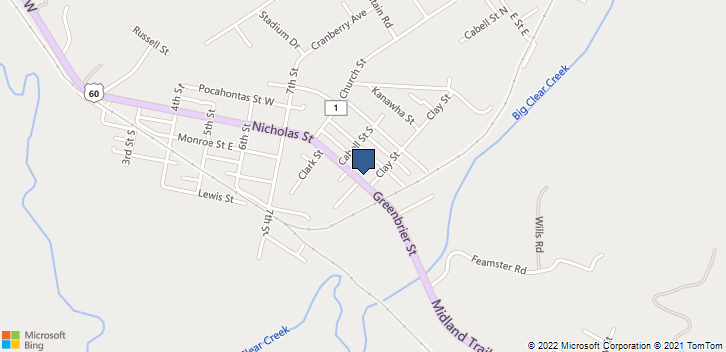 910 Clay Street Rupert, WV, 25984 Map
