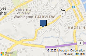 Bing Map of 910 Lafayette Blvd Fredericksburg, VA 22401