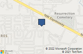 Bing Map of 9111 N Council Rd Oklahoma City, OK 73132
