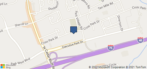 Bing Map of 9113 Executive Park Dr Ste A Knoxville, TN 37923