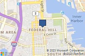 Bing Map of 912 Light St Baltimore, MD 21230