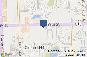 Bing Map of 9121 159th St Unit 1 Orland Hills, IL 60487