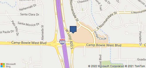 Bing Map of 9124 Camp Bowie W Blvd Ste 200 Fort Worth, TX 76116