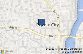 Bing Map of 914 14th St Phenix City, AL 36867