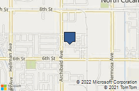 Bing Map of 9155 Archibald Ave Ste H Rancho Cucamonga, CA 91730