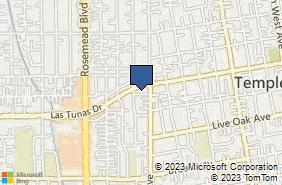 Bing Map of 9160 Las Tunas Dr Temple City, CA 91780