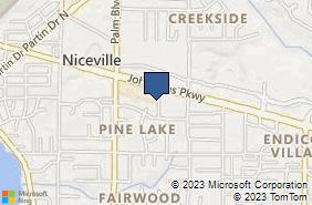 Bing Map of 917 Hospital Dr Niceville, FL 32578