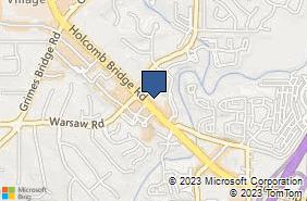 Bing Map of 920 Holcomb Bridge Rd Ste 450 Roswell, GA 30076