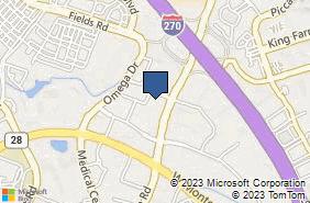 Bing Map of 9200 Corporate Blvd Ste 450 Rockville, MD 20850