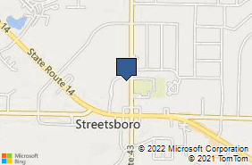 Bing Map of 9217 State Route 43 Ste 260 Streetsboro, OH 44241