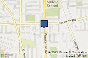 Bing Map of 9218 Waukegan Rd Morton Grove, IL 60053
