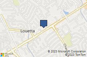 Bing Map of 9222 Louetta Rd Spring, TX 77379
