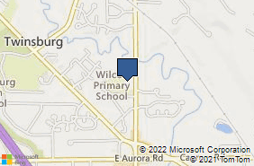 Bing Map of 9224 Darrow Rd Twinsburg, OH 44087