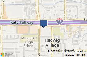 Bing Map of 9235 Katy Fwy Ste 390 Houston, TX 77024