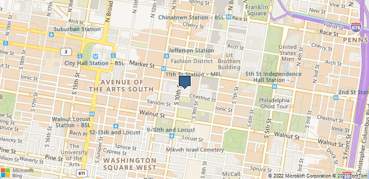 925 Chestnut St Fl 6 Philadelphia, PA, 19107 Map
