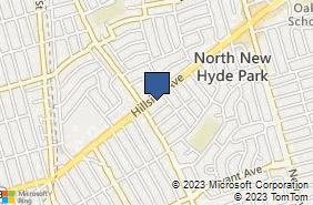 Bing Map of 928 Hillside Ave New Hyde Park, NY 11040