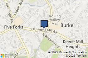 Bing Map of 9316 Old Keene Mill Rd Ste E Burke, VA 22015