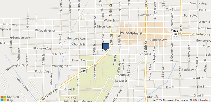 932 Oakland Ave Indiana, PA, 15701 Map